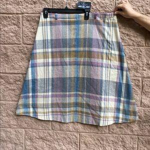 Dresses & Skirts - Vintage Plaid Pastel Skirt Size 15/16